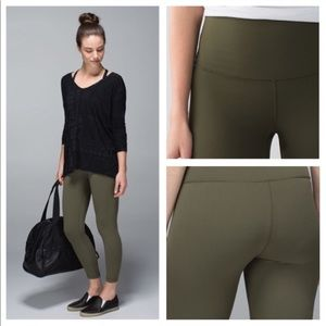 Lululemon High Times Leggings - Fatigue Green